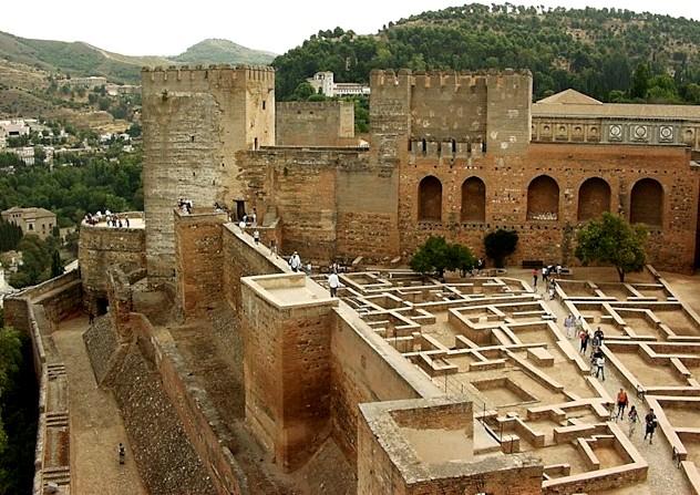 alcazaba alhambra - diffraction photos
