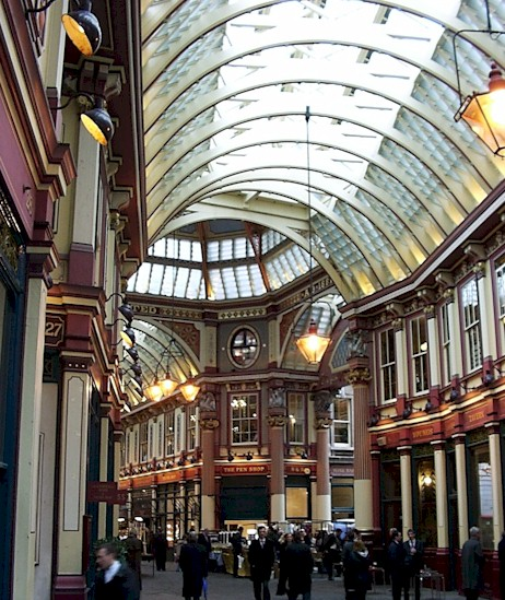 This is Leadenhall market. We visited quite a lot of markets while in London